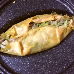 卵で包む|77.晩ごはんレシピ:【20分】豚平焼き、大根と筍のさっと煮