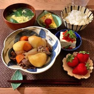 青梗菜と卵の中華スープ
