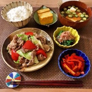 ホイコーロー | 128.晩ごはんレシピ:【20分】回鍋肉・オクラと豆腐の味噌汁