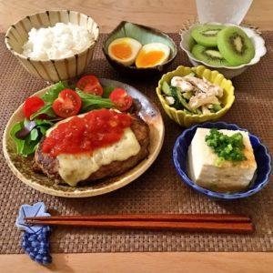 トマトチーズハンバーグ | 127.晩ごはんレシピ:【40分】トマトチーズハンバーグ