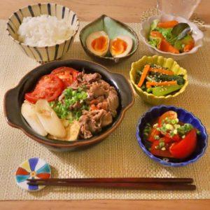 盛り付け|155.晩ごはんレシピ:トマトすき焼き