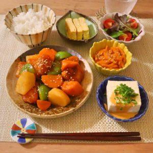 盛り付け|163.晩ごはんレシピ:【30分】酢鶏